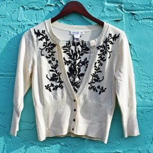 WHBM Embroidered Cardigan